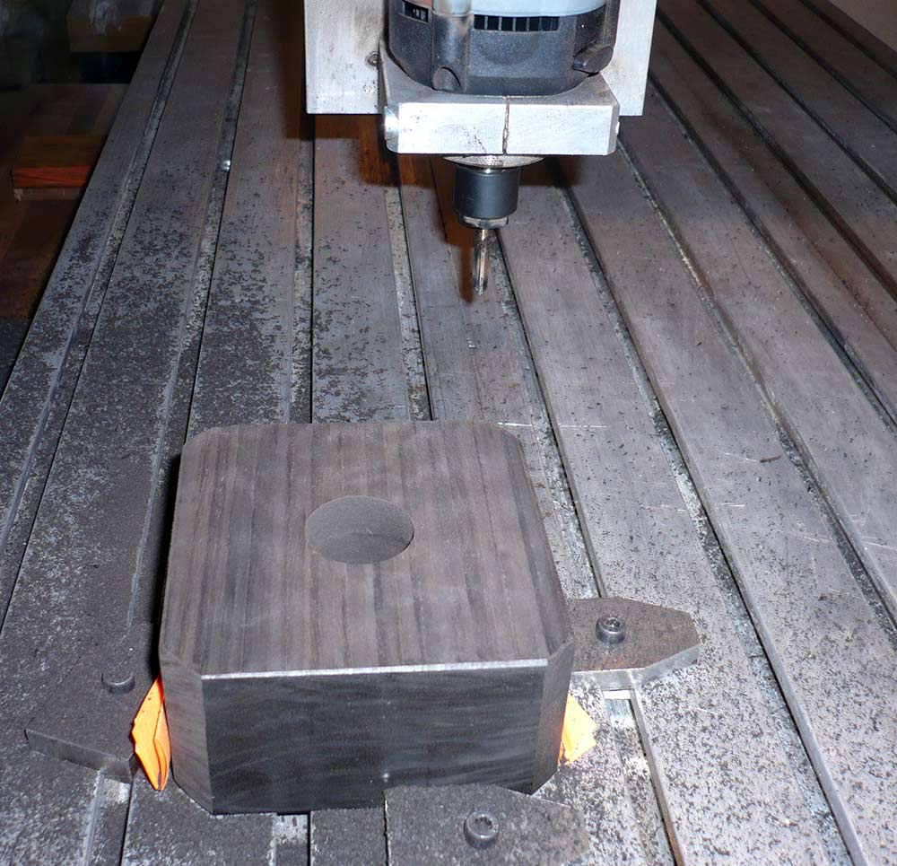 Lavorazione CNC del pressore in ebano con foro di decompressione per smorzamento Woofer K 24
